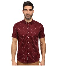 7 Diamonds Showtime Short Sleeve Shirt Maroon Men's Short Sleeve Button Up Red