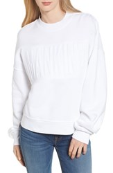 7 For All Mankind Embossed Sweatshirt White