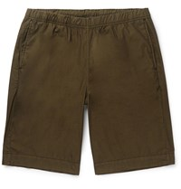 Paul Smith Ps Cotton Blend Drawstring Shorts Green