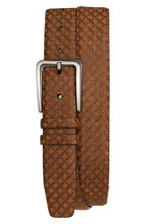 Men's Mezlan 'Brill Ascot' Leather Belt Tan