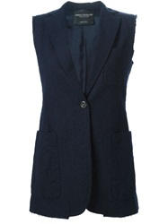 Erika Cavallini Semi Couture Sleeveless Blazer Blue