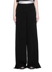 Elizabeth And James 'Daniella' Split Wide Leg Crepe Pants Black