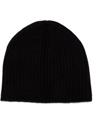 Denis Colomb Slouchy Beanie Hat Black