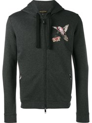 Valentino 'Fantastic Animals' Embroidered Hoodie Grey