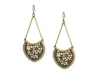 Lucky Brand Lace Openwork Large Earrings Gold Earring