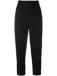 Ilaria Nistri High Rise Cropped Trousers Black