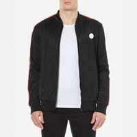 Msgm Men's Full Zip Side Stripe Tracksuit Top Black