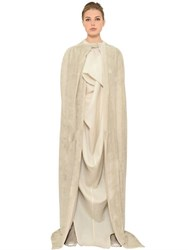 Rick Owens Long Velvet Cape