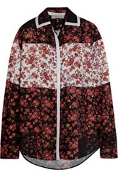 Preen Line Kendal Floral Print Satin Shirt Red
