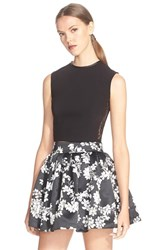 Women's Alice Olivia Sleeveless Lace Panel Shell