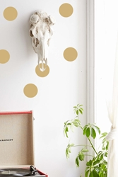 Plum And Bow Dot Wall Decal Set Gold