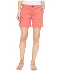 Jag Jeans Somerset Relaxed Fit Shorts In Bay Twill Coral Spice Women's Shorts Orange