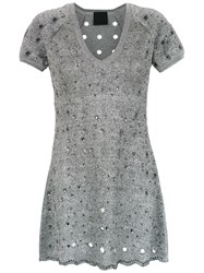Andrea Bogosian Knitted Dress Grey