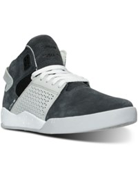 Supra Men's Skytop Iii High Top Casual Sneakers From Finish Line Grey Gradiant White