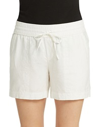 Lord And Taylor Petite Linen Shorts White