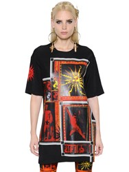 Fausto Puglisi Printed Stretch Jersey T Shirt Dress