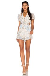 For Love And Lemons X Revolve Cadence Romper Beige