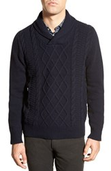 Men's Bonobos Shawl Cable Knit Sweater Navy