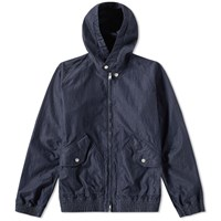 Nonnative Trainer Hooded Jacket Blue