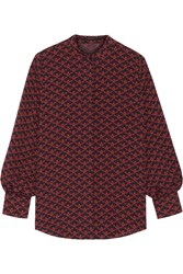 Mother Of Pearl Printed Silk Georgette Blouse Red
