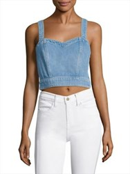 7 For All Mankind Denim Bustier Luxe Lounge Coastal Blue