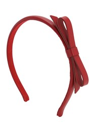 Red Valentino Leather Headband W Bow Ribes