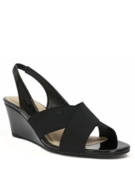 Ellen Tracy Impulse Slingback Wedge Sandals Black