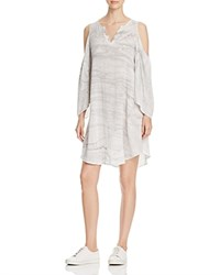 Xcvi Abella Draped Cold Shoulder Dress Marble Wash London
