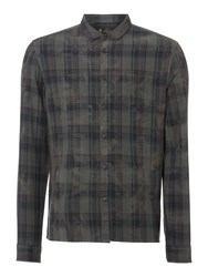 Label Lab Orchard Check Long Sleeve Shirt Grey