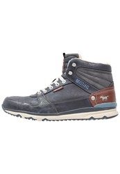 Mustang Hightop Trainers Navy Blue