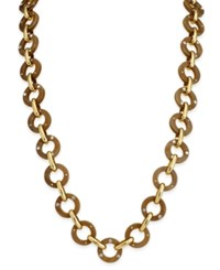 Kate Spade New York Out Of Her Shell Gold Tone Tortoiseshell Look Long Necklace Hornmulti