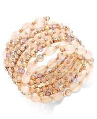 Inc International Concepts Gold Tone Black And Metal Bead Coil Bracelet Only At Macy's Ballet Pin