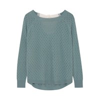 Ille De Cocos Fantasy Bow Sweater Bay Green And Chalk