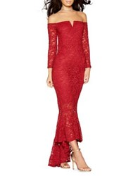 Quiz Glitter Lace Mermaid Gown Berry