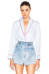 Thakoon Cropped Blazer Top In Blue