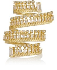 Fallon Women's Unzipped Spiral Ring Gold