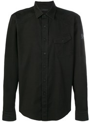Belstaff Angled Pocket Shirt Black