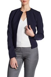 Hugo Boss Long Sleeve Solid Blazer Blue