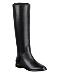 Marc Fisher Ltd Maxi Leather Knee High Boo Black