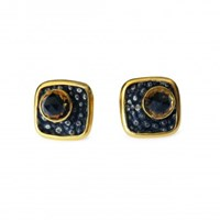 Isabel Englebert Square Bullet 18K Gold Cufflinks
