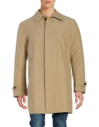 Lauren Ralph Lauren Button Front Insulated Rain Coat Tan