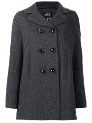 A.P.C. Double Breasted Coat Grey