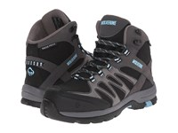 Wolverine Fletcher Nt Mid Wpf Work Hiker Black Blue Women's Work Lace Up Boots