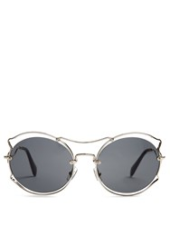 Miu Miu Cat Ear Shaped Sunglasses Grey Multi