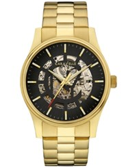 Caravelle New York By Bulova Men's Automatic Gold Tone Stainless Steel Bracelet Watch 42Mm 44A107