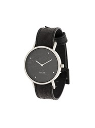South Lane Avant Raw Watch Calf Leather Stainless Steel Glass Black