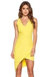Pink Stitch Maci Dress Yellow