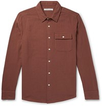 Outerknown Ocotillo Textured Organic Cotton Shirt Red