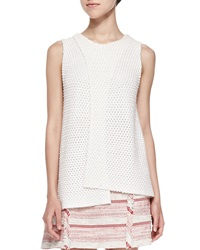 Thakoon Addition Sleeveless Crossover Crochet Top