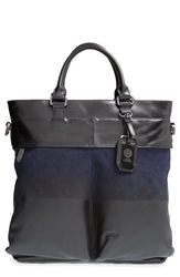 Vince Camuto 'Surbo' Convertible Suede Tote Jet Black Peacoat
